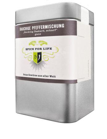 Geräucherte Pfeffermischung - feuriger BBQ Genuss - ganz - 80 g - Bio – Bild 1