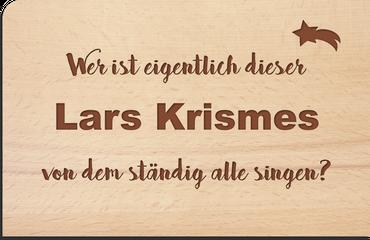 "Postkarte aus Holz ""Lars Krismes"" Weihnachtskarte – Bild 1"