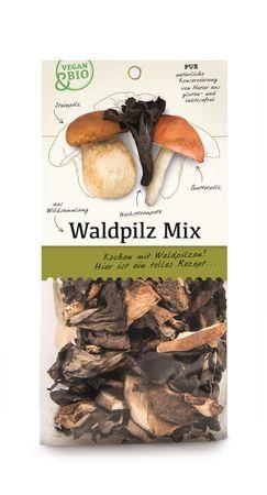 Waldpilz-Mix getrocknet - bio und vegan - 30 g – Bild 1