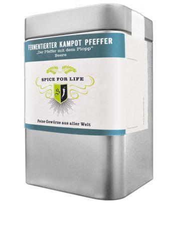 Fermentierter Kampot Pfeffer - Weltneuheit - ganz Beere - Dose 60 g – Bild 1