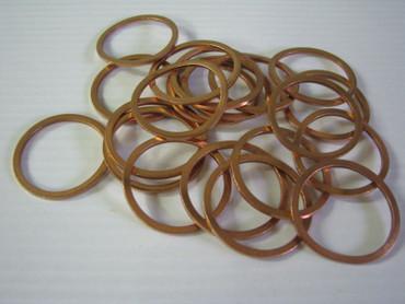 """50 x Kupferring 1 1/4 """" für Bohrkronen 5/4"""" Kernbohrer Kupfer Ring 38 x 32 x 2  – Bild 1"""
