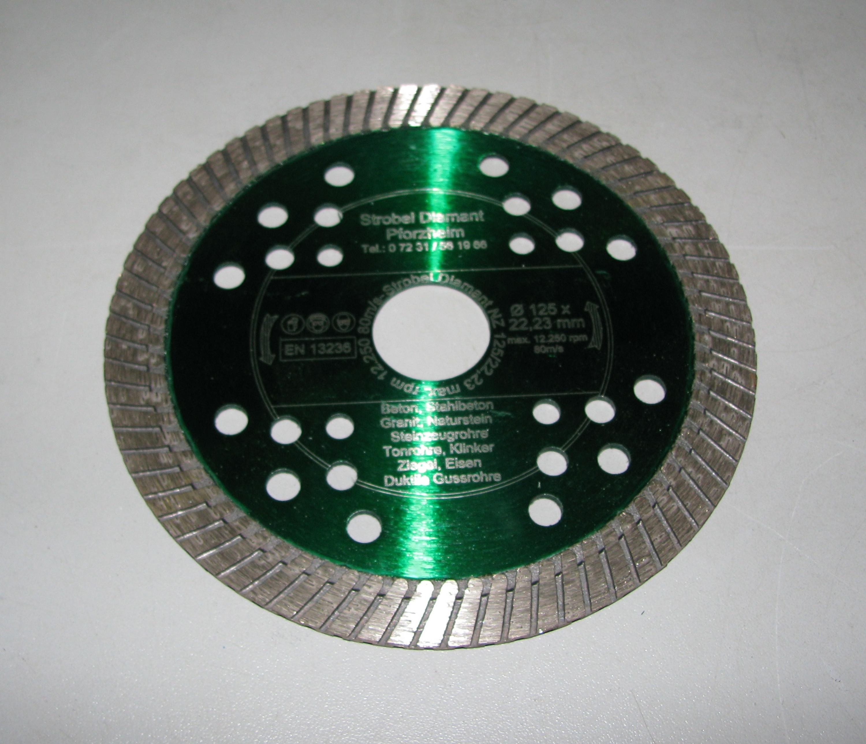 Diamantscheibe Diamanttrennscheibe für Mauernutfräse Beton Estrich 125mm