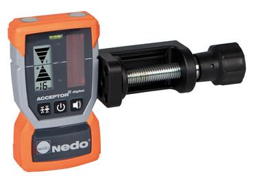 Nedo SIRIUS 1 HV vollautomatisch Rotationslaser horizontal vertikal Laser LK 2 mit Laserempfänger Acceptor 2 digital – Bild 2