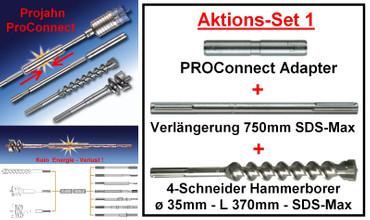 Projahn PROConnect SET 1 Adapter Hammerbohrer ø 35 x 370 SDS-max ROCKET 5 Beton – Bild 1