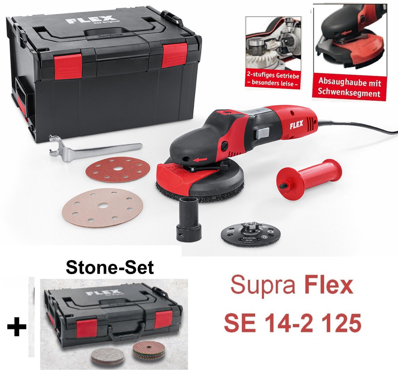 Super Flex SupraFLEX SE 14-2 125 Winkelschleifer STONE-Set Naturstein IU88