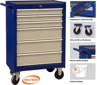 Projahn ECOBlue Werkstattwagen 6 Schubladen PROForm leer Werkzeugwagen 4901-50 – Bild 1