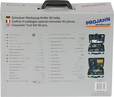 Projahn Schreiner-Werkzeugkoffer-Set 92 tlg. Werkzeug Koffer 8684 Werkzeugtasche – Bild 5