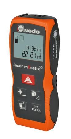 Nedo Lasermessfix 50  Laser-Entfernungsmesser 0,05 - 50m Messfix ± 2,0 mm IP 54 Distanzmesser Abstandsmesser – Bild 1