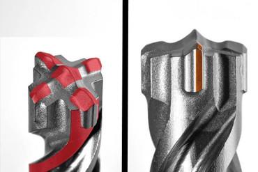 Projahn PROConnect Hammerbohrer 45 x 370 SDS-Max ROCKET 5 Crusher BETON armiert  – Bild 4