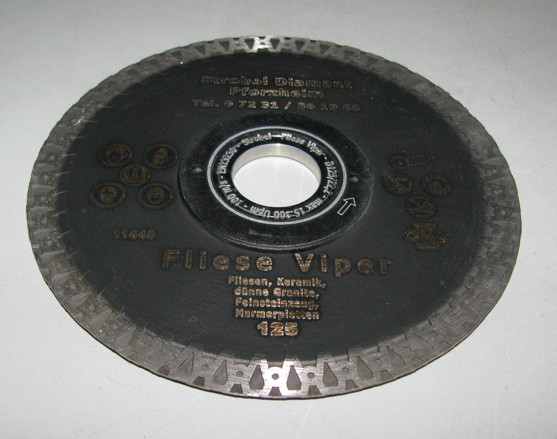 Hervorragend Diamanttrennscheibe ø 125 mm Fliese VIPER Feinsteinzeug CK52