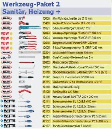 PREMIUM Qualität Werkzeug 47 tlg Werkzeugtasche Sanitär, Heizung + Textiltasche  – Bild 2