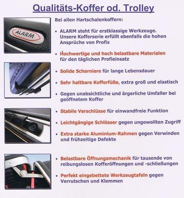 PREMIUM Qualität Werkzeug 45 tlg Werkzeugkoffer Sanitär Service + Koffer Trolley – Bild 4