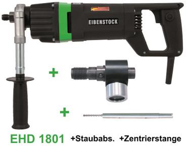 Eibenstock Kernbohrgerät EHD 1801 + Staubabsaugung + Zentrierstange Kernbohrer – Bild 1