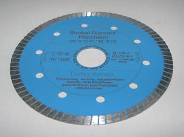Diamantscheibe ø 125 Diamant Trennscheibe Fliesen PROFI Diamanttrennscheibe – Bild 1