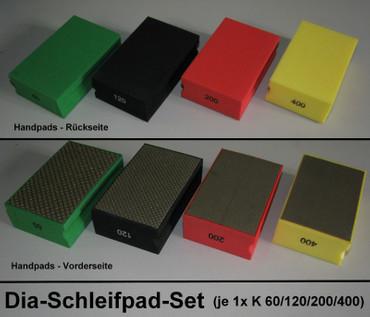 4 Diamant Handpad K 60 120 200 400 Diamantpad Diapad Schleifpad Handpads Fliesen
