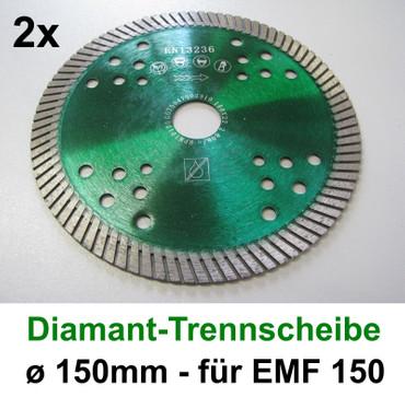 2 x Diamanttrennscheibe ø 150 mm EMF 150 Eibenstock Granit Beton Trennscheibe – Bild 1