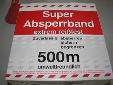 3 x Absperrband rot / weiß 500m Super extrem reißfest 80mm Warnband Flatterband – Bild 4