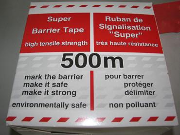 10 x Absperrband rot / weiß 500m Super extrem reißfest 80mm Warnband Flatterband – Bild 3