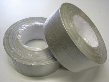 12 x Gewebeband Klebeband Steinband silber Gewebe 50x50