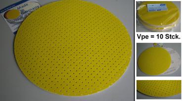 10x Schleifpapier perforiert K80 Superpad P ø 225 passend f. Flex WSE WST GE 5 R – Bild 1