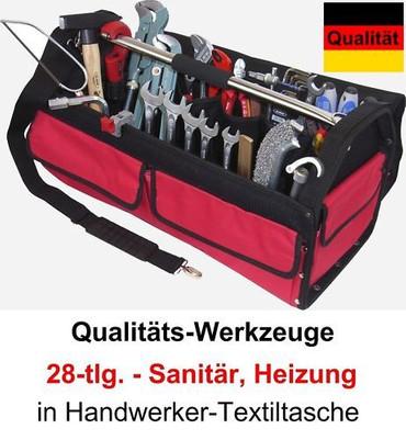 PREMIUM Qualität Werkzeug 28 T Werkzeugtasche Sanitär Heizung Tasche Textil groß – Bild 1