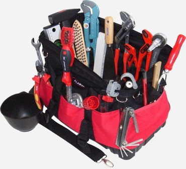 PREMIUM Qualität Werkzeug 24 tlg Werkzeugtasche Sanitär BAU Textiltasche Tasche – Bild 3
