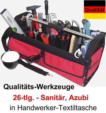 PREMIUM Qualität Werkzeug 26 T. Werkzeugtasche AZUBI Sanitär Textiltasche Tasche – Bild 1