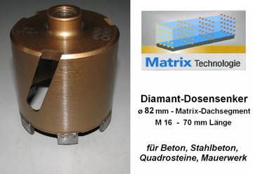 Diamant-Dosensenker MATRIX ø 82 mm M16 PREMIUM Dosenbohrer Lochbohrer Bohrkrone – Bild 1