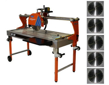 NORTON Clipper Tischsäge CST 120 Aluminium Alu Trennsäge CST120 + 5x Diascheibe – Bild 1