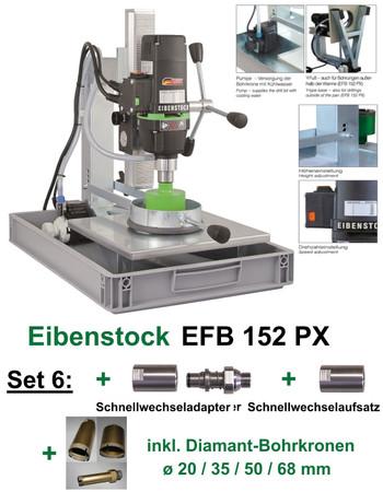 Eibenstock Fliesen-Bohrgerät EFB 152 PX SET 6 mit Adapter Bohrkrone 20 35 50 68 – Bild 1