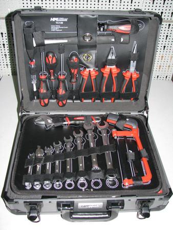 HM Werkzeugkoffer-Set TC130 mit Werkzeug 130 tlg. Universal Alu-Koffer bestückt – Bild 1