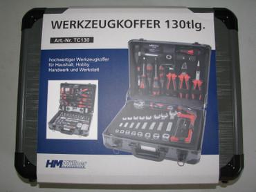 HM Werkzeugkoffer-Set TC130 mit Werkzeug 130 tlg. Universal Alu-Koffer bestückt – Bild 2