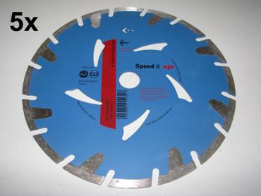 5x Diamant-Trennscheibe ø 230 mm Speed K Estrich Leichtbeton Diamanttrennscheibe