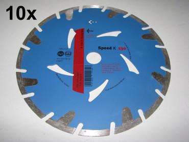 10x Diamant-Trennscheibe ø 230mm Speed K Estrich Leichtbeton Diamanttrennscheibe