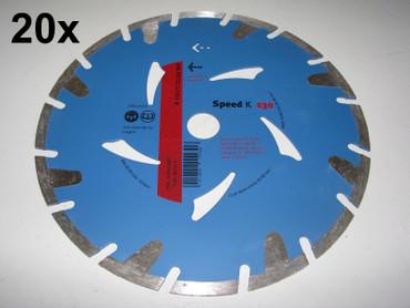 20x Diamant-Trennscheibe ø 230mm Speed K Estrich Leichtbeton Diamanttrennscheibe