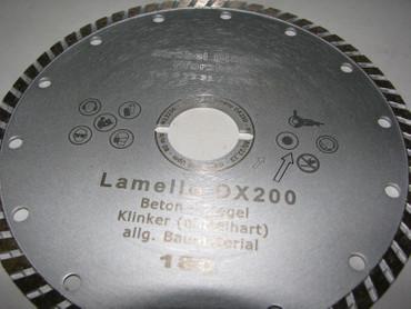 Diamant-Trennscheibe ø 180 Beton passend Lamello Tanga DX 200 Neue Fensterfräse  – Bild 5