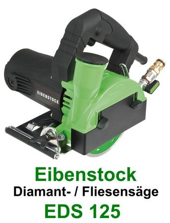 Eibenstock Diamantsäge EDS 125 + Diamantscheibe f. Fliesen Trennsäge Fliesensäge – Bild 1