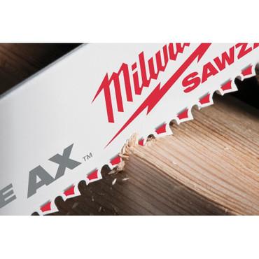 5x Milwaukee Säbelsägeblatt DEMONTAGE THE AX Holz Nägel 150 / 230 x 5 Säbelsäge – Bild 3