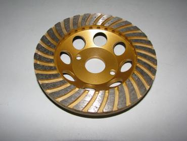 Diamant Schleiftopf Schleifteller ø 125 mm - Turbo Topfschleifer Betonschleifer – Bild 1