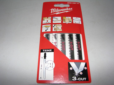 2x 5 Milwaukee Stichsägeblatt 91 x 2,5 mm 3-Cut Holz 3-60mm T 234 X Stichsäge 10 – Bild 1