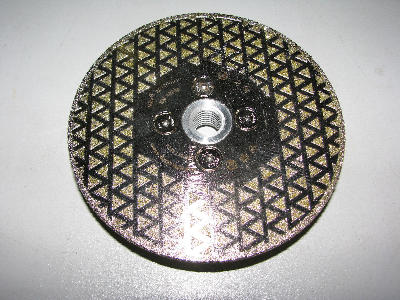 Diamant Schleifteller Universal 125mm doppelreihig Diamantschleifteller f/ür Beton Stein Granit Mauerwerk Naturstein Flintronic Premium Diamant Schleiftopf Schleifteller