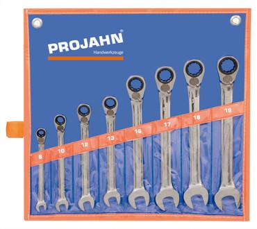 Projahn GearTech 8 tlg. Ratschenschlüssel Satz umschaltbar metrisch 3999 Ringschlüssel – Bild 1