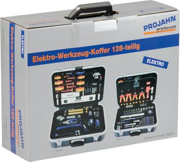 Projahn Elektro-Werkzeugkoffer-Set 128 tlg. Werkzeug Koffer 8683 Werkzeugtasche – Bild 4