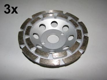 3 x Diamant Schleiftopf Schleifteller ø 125 mm - Beton Universal Topfschleifer – Bild 1