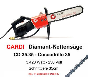 Diamant-Kettensäge CARDI Coccodrillo 35 Diamantkettensäge inkl. ICS Force3-32 – Bild 1