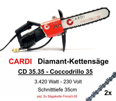 Diamant-Kettensäge CARDI Coccodrillo 35 Diamantkettensäge +ICS Force3-32 Euromax – Bild 1
