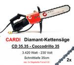 Diamant-Kettensäge CARDI Coccodrillo 35 Diamantkettensäge +ICS Force3-32 Euromax