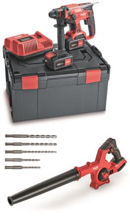 Flex Akku-Kombi-Bohrhammer CHE 18.0-EC Kombihammer 2x AP 18.0 V 5.0 Ah + Ladegerät + Akku-Gebläse BW 18.0-EC – Bild 1