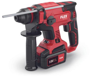 Flex Akku-Bohrschrauber DD 2G 18.0 + CHE 18.0-EC Kombi-Bohrhammer + 3x Akku 18V 5.0 Ah + Ladegerät  – Bild 3