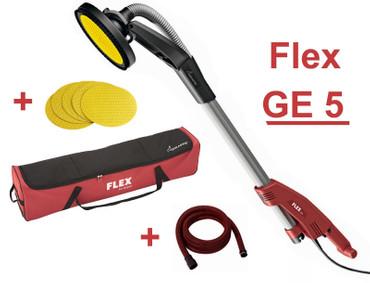 Flex GE 5 Giraffe Langhalsschleifer mit Tasche + Saugschlauch + Schleifpapier – Bild 1